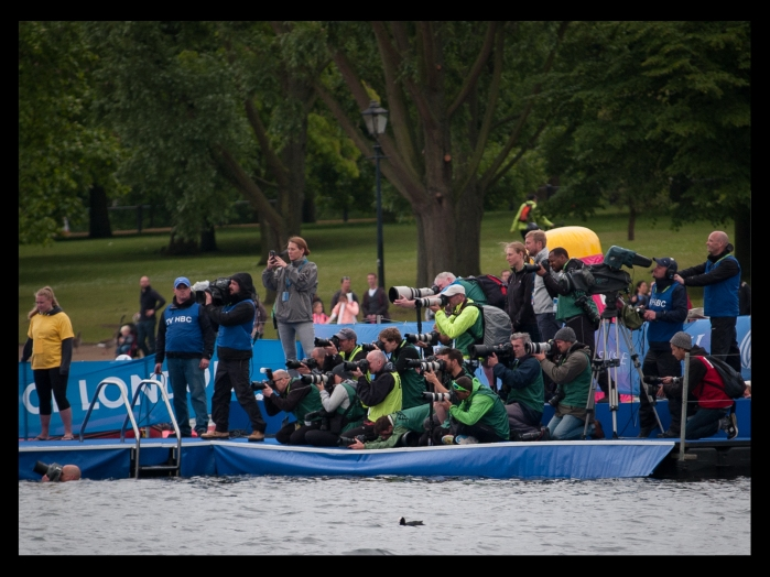 These guys got a rather better view of the start than me - look carefully and you'll see one guy in the water!